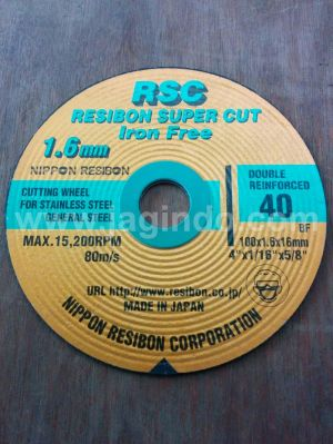 "Batu Potong Nippon Resibon Supercut RSC 4"" X 1,6 mm japan asli"