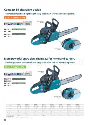 EA 3501 S Gasoline Chainsaw Makita